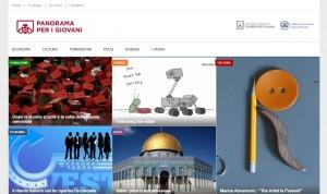 la schermata della home page del sito