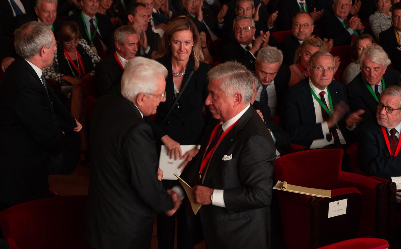 Antonio D'Amto e presidente Mattarella