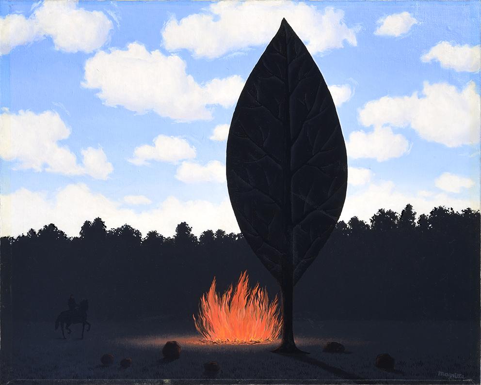 René Magritte_Le fenêre ouverte, 1966