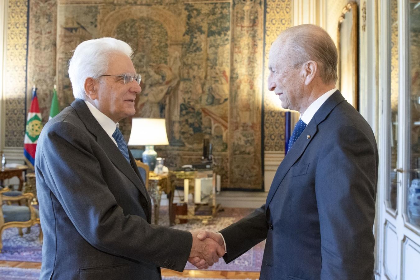 Incontro Presidente della Repubblica Sergio Mattarella e Maurizio Sella