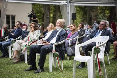 Maurizio Sella, Presidente della Federazione Nazionale Cavalieri del Lavoro, in prima fila tra il pubblico